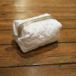 trousse berlingot blanc dore